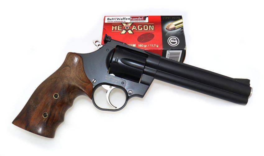 Korth Revolver National Standard 6 Zoll .357Mag. mit Jim Wilson Nussbaumgriff