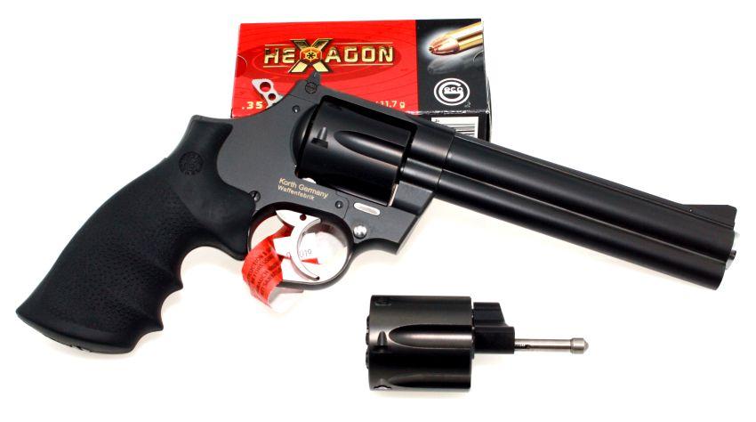 Korth National Standard 6 Zoll .357 Magnum mit Wechseltrommel 9mm Luger