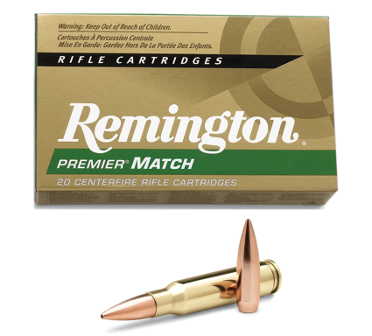Remington Premier Match 52gr. Sierra Matchking hollow-point boat-tail