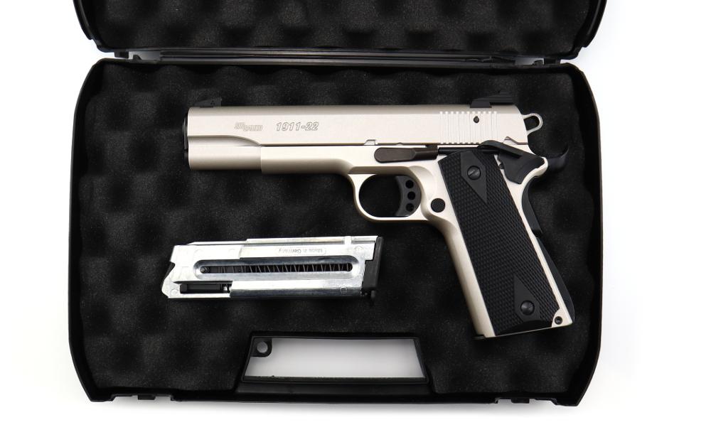 Sig Sauer 1911.22 Nickel KK Pistole .22lfb angeboten von der B&H Waffenhandelsgesellschaft ohG